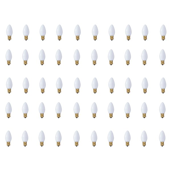 7W E17 Dimmable Incandescent Candle Light Bulb (Set of 50) by Bulbrite Industries