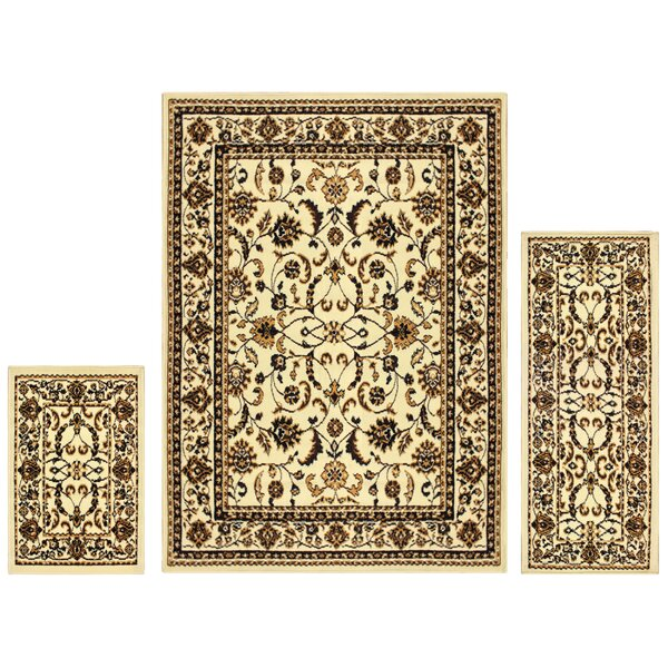 Dodington 3 Piece Ivory Area Rug Set by Astoria Grand