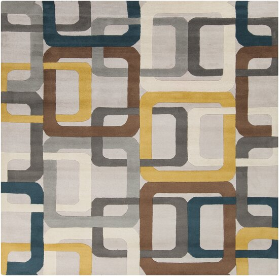 Dewald Gray Area Rug by Ebern Designs