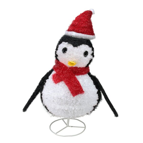 Pre-Lit Outdoor Chenille Penguin Christmas Decoration by Northlight Seasonal