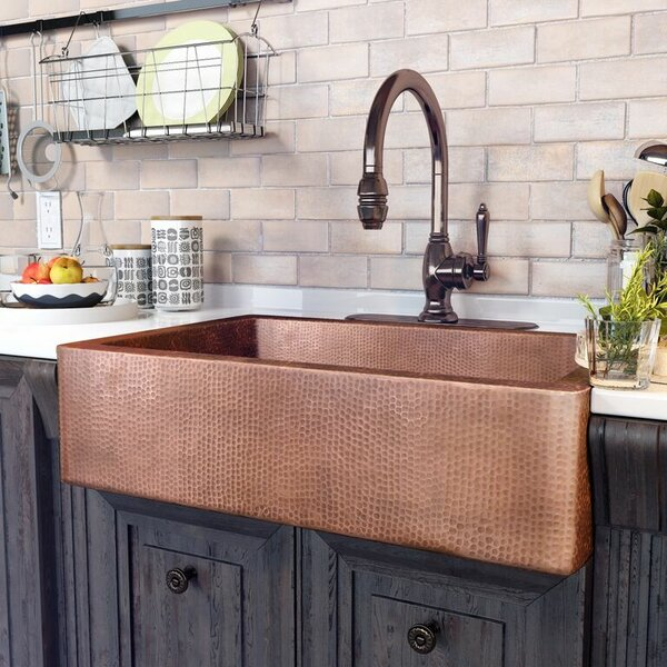Adam 33 L x 22 W Farmhouse/Apron Kitchen Sink by Sinkology