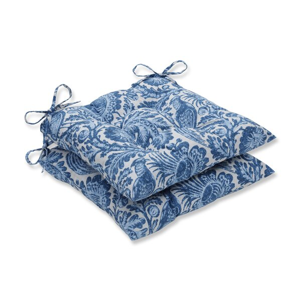 Tucker Resist Azure Indoor/Outdoor Dining Chair Cushion (Set of 2) by Ophelia & Co.