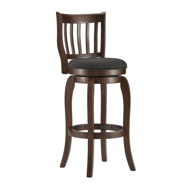 Morgan 29 Swivel Bar Stool by Three Posts
