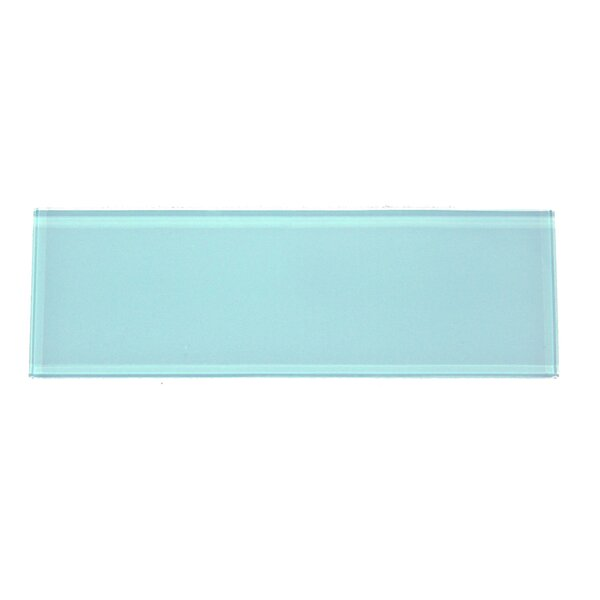Premium Series 4'' x 12'' Glass Subway Tile in Aqua Blue by WS Tiles