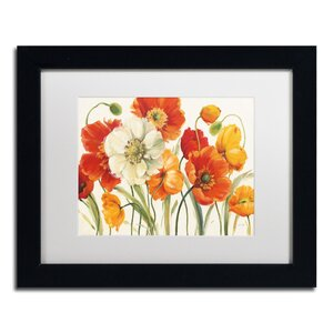 Poppies Melody I by Lisa Audit Framed Painting Print by Trademark Fine Art