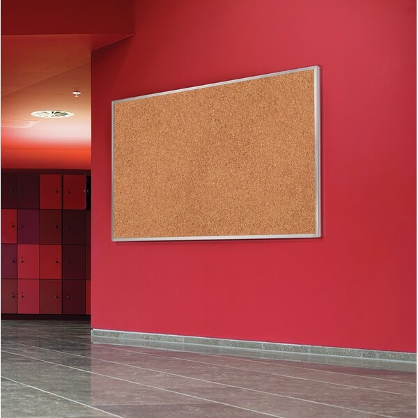 Ghent Natural Cork Bulletin Board with Aluminum Frame by Ghent