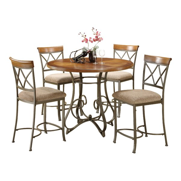 Cobbs 5 Piece Counter Height Dining Set By Winston Porter Best #1