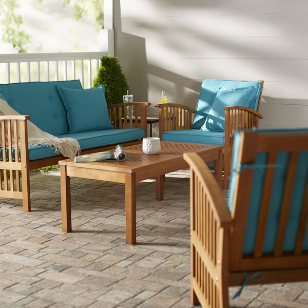Sabbattus 4 Piece Sofa Set with Cushions by Breakwater Bay