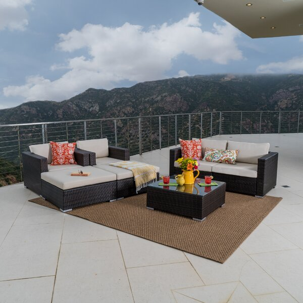 Cabral 7 Piece Sofa Seating Group with Cushions by Sol 72 Outdoor