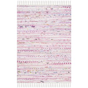 Lansing Hand-Woven Light Pink Area Rug