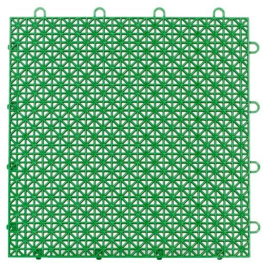 Armadillo Floor 12.63 x 12.63 Tile in Extreme Green by Master Mark Plastics