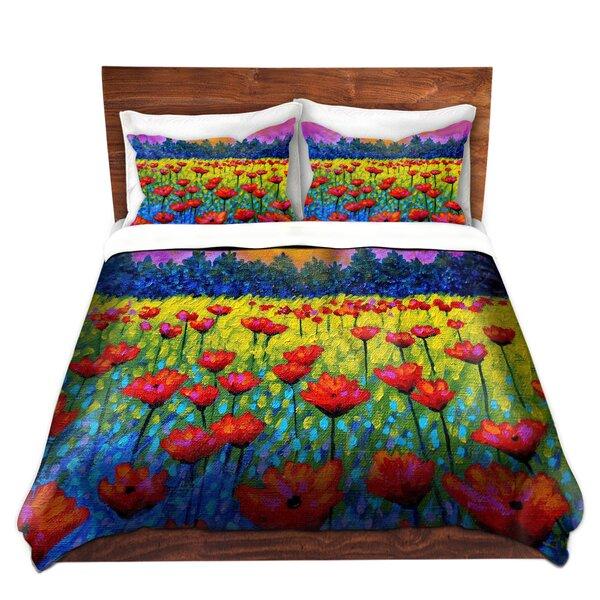Twilight Poppies Duvet Cover Set