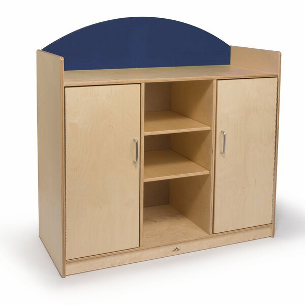 Rainbow 5 Compartment Classroom Cabinet by Whitney Brothers
