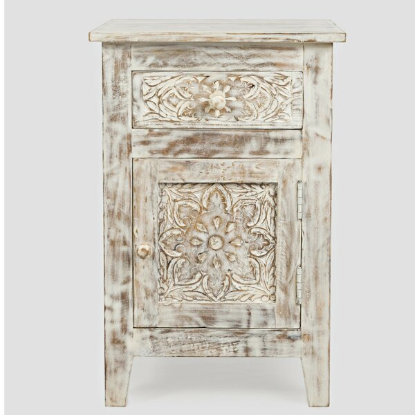 Avant Hand Carved End Table by Bungalow Rose