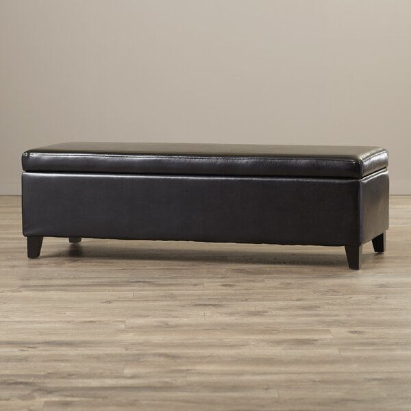 Ridgeley Bailey Bonded Leather Storage Ottoman Bench by Wade Logan