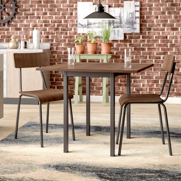 Ginnia Industrial 3 Piece Dining Set by Williston Forge