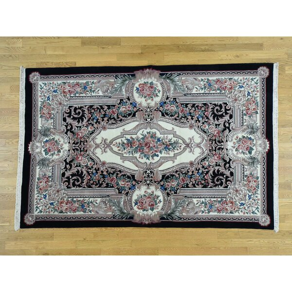 One-of-a-Kind Briggs European Design Handwoven Ivory Wool Area Rug by Isabelline