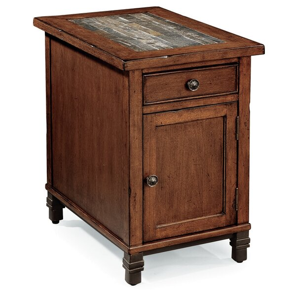 Kisha End Table With Storage By World Menagerie