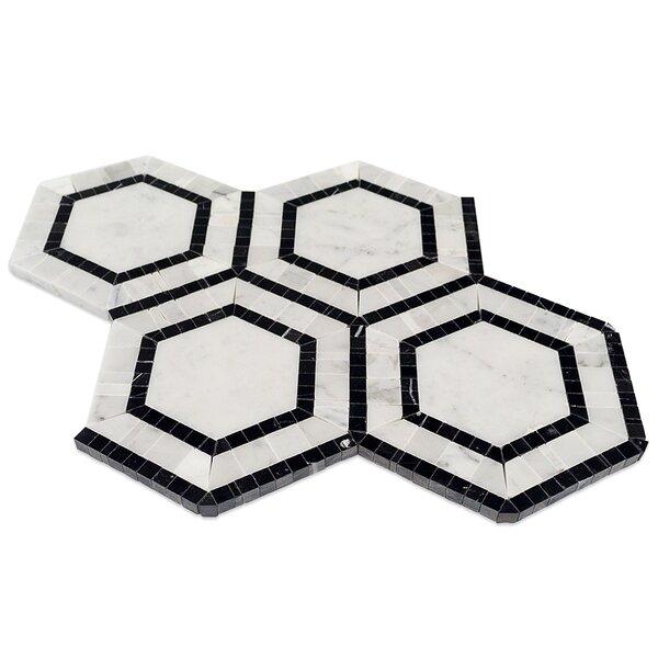 Zeta Random Sized Marble Mosaic Tile in Carrara by Splashback Tile