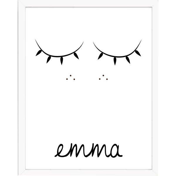 Sweet Sleepy Face Personalized with Name Paper Print by Finny and Zook