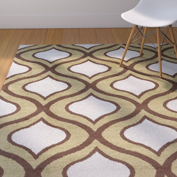 Eamor Olive Geometric Area Rug by Langley Street