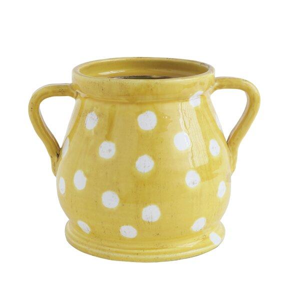 Winona Decorative Dots Terracotta Pot Planter by Winston Porter