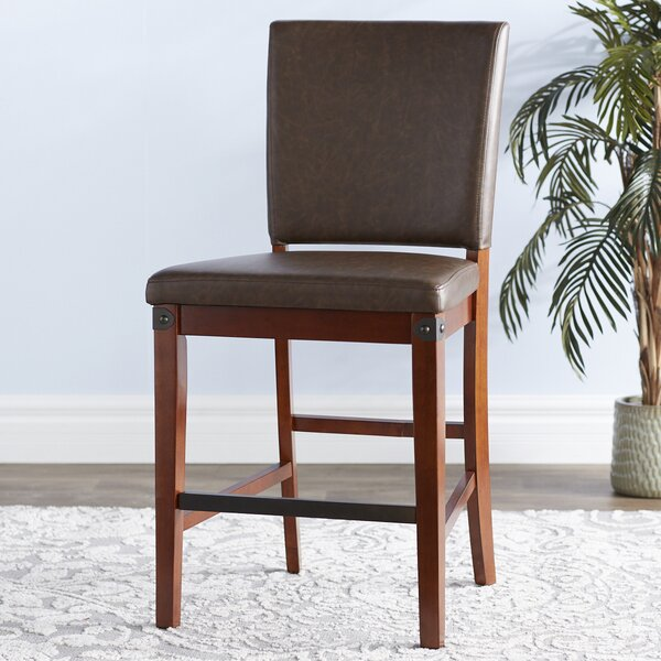 Wayland Genuine Leather Upholstered Dining Chair (Set of 2) by Loon Peak