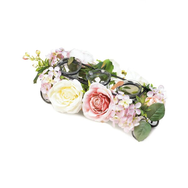 Blooming Faux Floral Glass Votive Holder by Ophelia & Co.