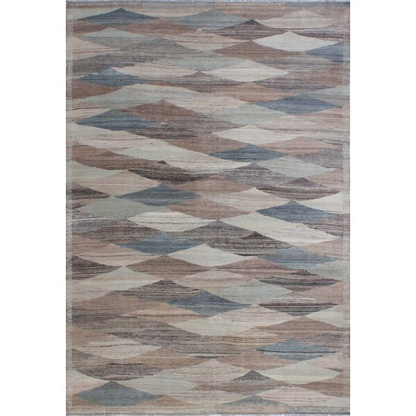 Howerton Hand-Knotted Wool Blue/Gray Area Rug by Red Barrel Studio