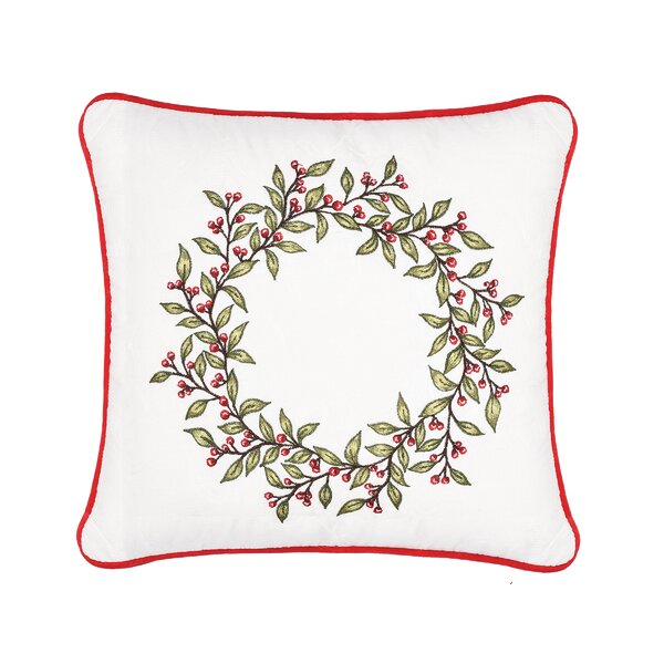 Mauer Berry Garland Cotton Throw Pillow by The Holiday Aisle