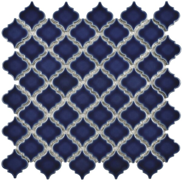 Pharsalia 12.38 x 12.5 Porcelain Mosaic Floor and Wall Tile in Smoky Blue by EliteTile
