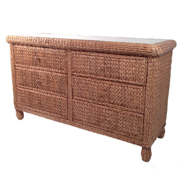 Debolt 6 Drawer Double Dresser By Bay Isle Home by Bay Isle Home Comparison