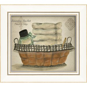 Laundry Basket Framed Graphic Art by The Artwork Factory