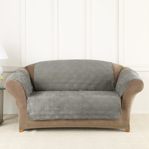 Cooling Pet Box Cushion Loveseat Slipcover by Sure Fit