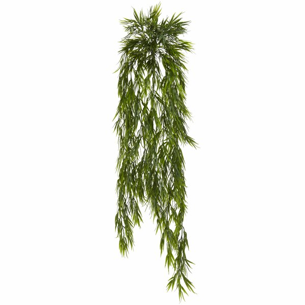 Mini Bamboo Hanging Plant (Set of 2) by Nearly Natural