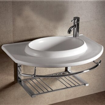 Isabella Ceramic 36 Wall Mount Bathroom Sink by Whitehaus Collection