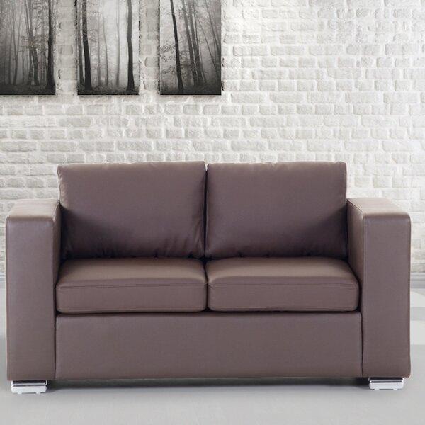 Best Design Enya Genuine Leather Loveseat by Orren Ellis by Orren Ellis