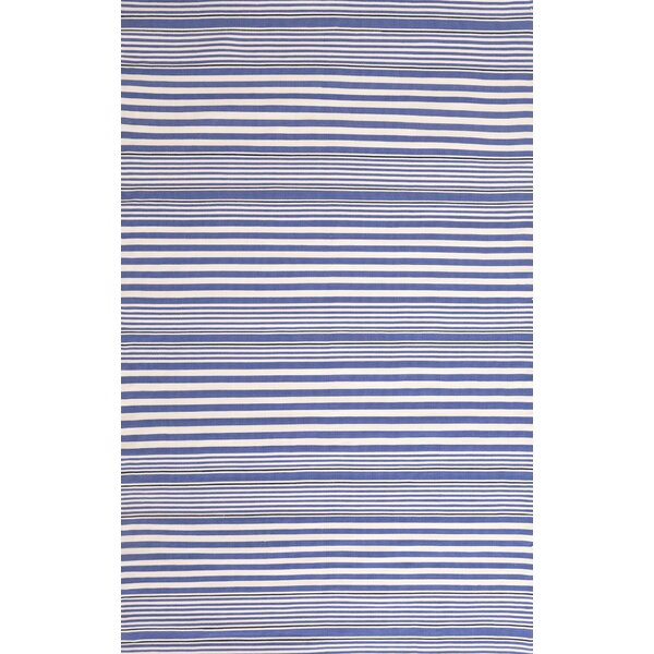Indoor/Outdoor Hand Woven Blue Area Rug by Dash and Albert Rugs