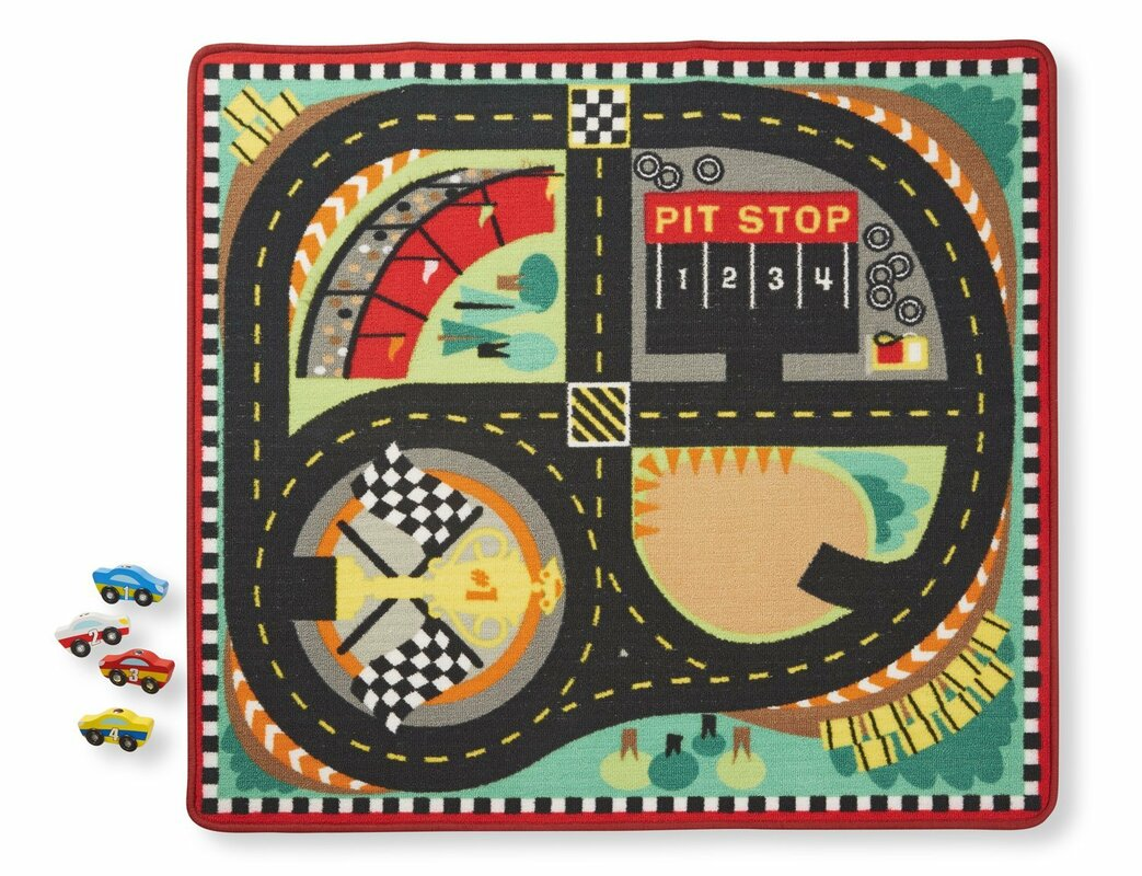 Round The Sdway Race Track Area Rug