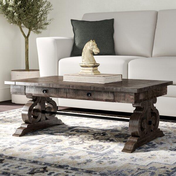 Ellenton Trestle Coffee Table with Storage by Greyleigh Greyleigh