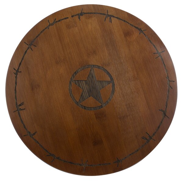 Western Star Bamboo Lazy Susan by Thirstystone