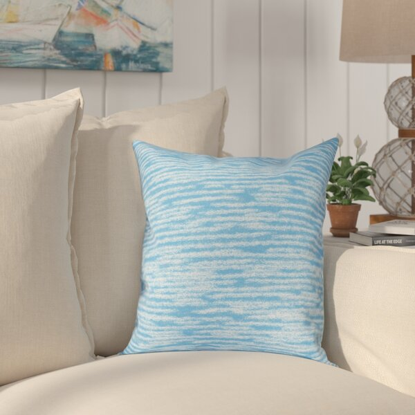 Hancock Marled Knit Geometric Print Outdoor Throw Pillow by Breakwater Bay