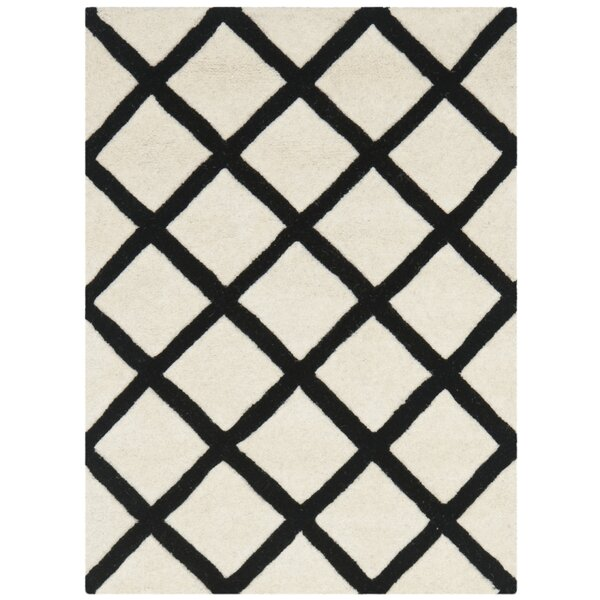 Wilkin Ivory & Black Area Rug by Wrought Studio