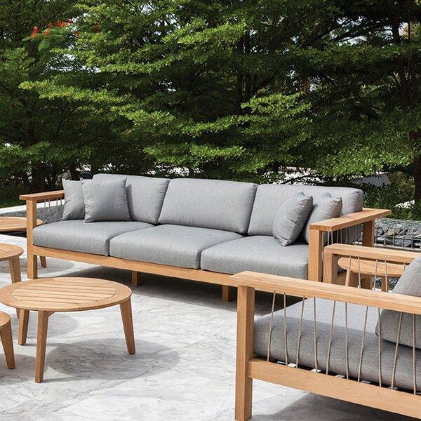 Maro Teak Patio Sofa with Sunbrella Cushions by OASIQ