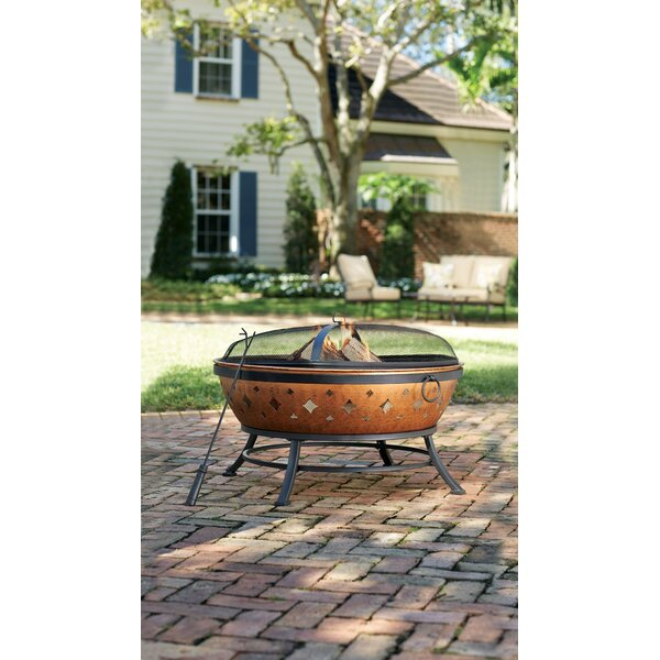 Westerham Steel Wood Burning Fire Pit By Sol 72 Outdoor