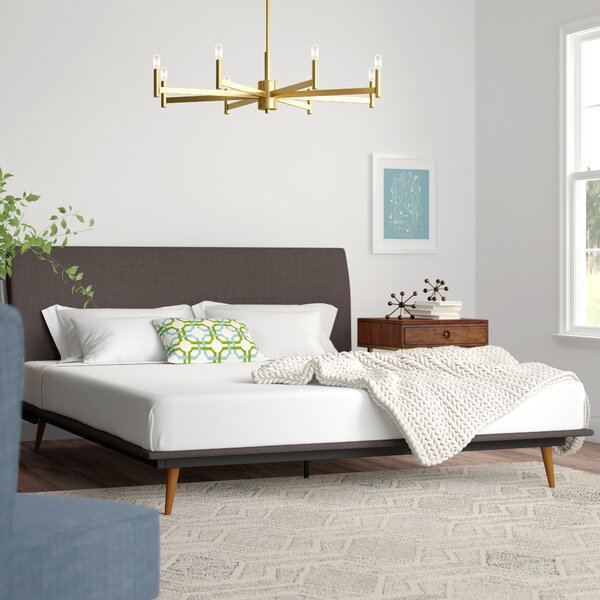 Joyce Queen Upholstered Platform Bed by Modern Rustic Interiors