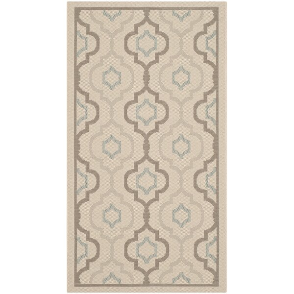 Asheville Beige/Gray Indoor/Outdoor Area Rug by Alcott Hill