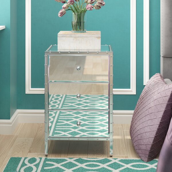 Mcnally Mirror 3 Drawer End Table by House of Hampton