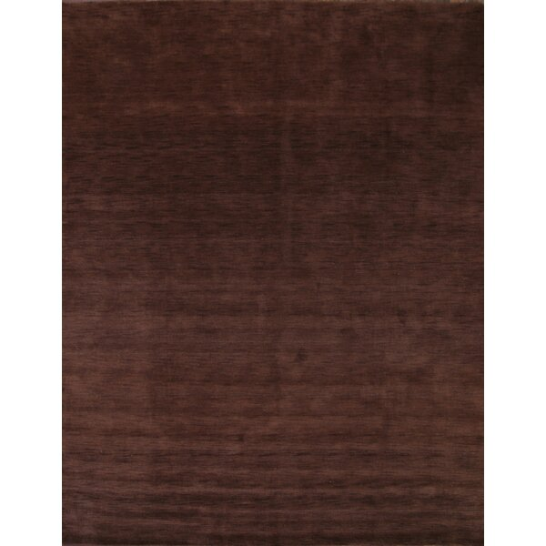 Bridgeview Gabbeh Oriental Hand-Knotted Wool Brown Area Rug by Latitude Run