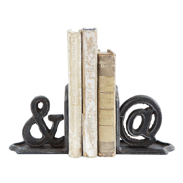 Cast Bookends (Set of 2) by Ebern Designs